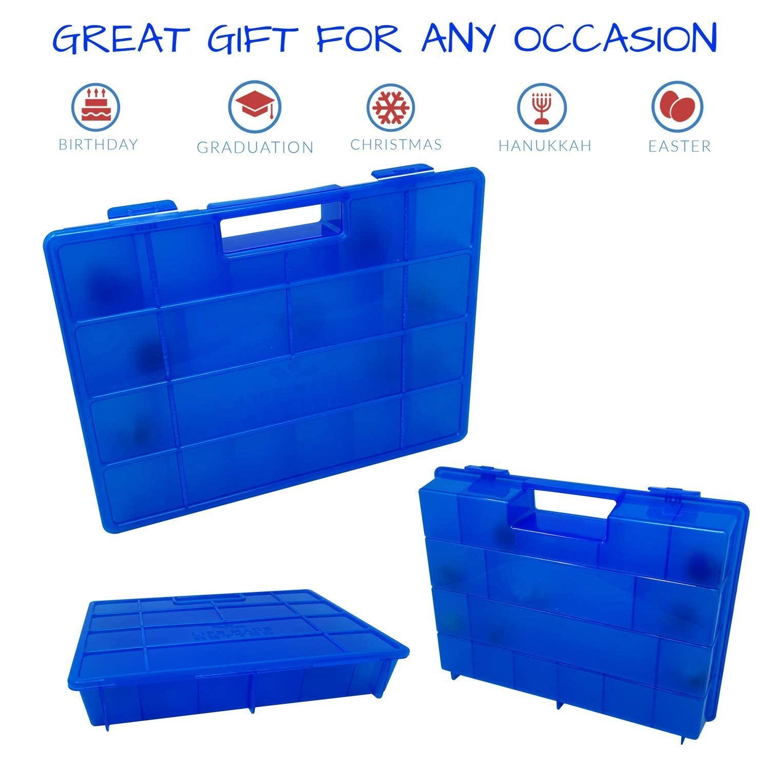 Life Made Better New & Improved Blue Storage & Organizer Case Compatible with Battle Bakugan Figures, Made by LMB