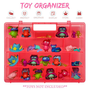 Life Made Better Well-Made Strong Toy Case, Protector & Organizer Storage Carry-Along, Compatible with UglyDolls, not Created by UglyDolls, Pink Toy Accessory by LMB