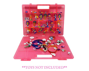 Life Made Better Reinforced Toy Carrying Case, Compatible with Party Popteenies, Stackable Case Stores Lots of Figures by LMB