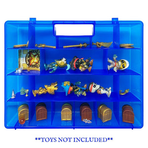 Life Made Better New and Improved Toy Carrying and Storage Case in Blue. Compatible with Treasure X Figurines, Created by LMB.