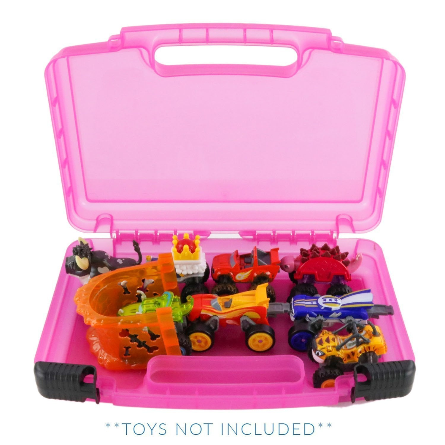 Blaze & The Monster Machines Case, Toy Storage Carrying Box. Figures Playset Organizer. Accessories For Kids by LMB