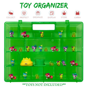 Life Made Better, Fun Green Colored Box, Convenient Compartments, Light Weight & Kid Friendly Organizer Compatible with Animal Jam Toy Figures, Toy Accessory