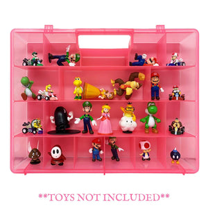 Life Made Better Mini Action Figure Organizer Case, Compatible with Mario Bros Action Figures, Toy Storage