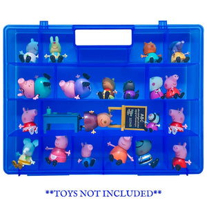 Life Made Better Portable Toy Box, Dependable, Longer-Lasting Blue Protective Organizing Case, Compatible with Peppa Pig Figures Playset Organizer. Accessories by LMB