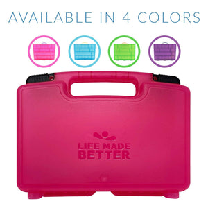 Life Made Better Pink Toy Carrying Case Compatible with Suprizamals, Kid Friendly & Works Home Storage or Travel