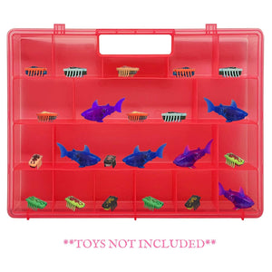 Life Made Better, Redesigned Pink Toy Storage Organizer. Fits Up to 40 Bug Toys, Compatible with Hex Bug TM Toy Figures, Created by LMB