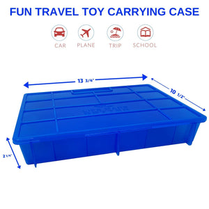 Life Made Better Mini Figurine Organizer, Storage & Travel Case. Portable Blue Carrying Case, Compatible with Smashers Gross Mini Figures, by LMB