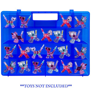 Life Made Better, Toy Figure Blue Organizer, Durable Hinges & Clasps for a Kid Proof Toy Case, Compatible with Twisty Petz, not Made by Twisty Petz