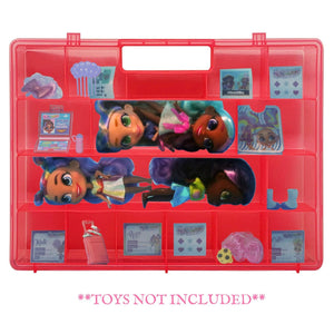 Life Made Better, Protective Pink Doll Case, Compatible with Hairdorable Dolls & Accessories, Strong Storage Display Case