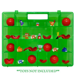Life Made Better, Toys Protective & Organizing Portable Green Remodeled Carrying Case, Works with Zuru Smashers, Organizer not Made by ZuRu Smashers, Toy Accessories by LMB