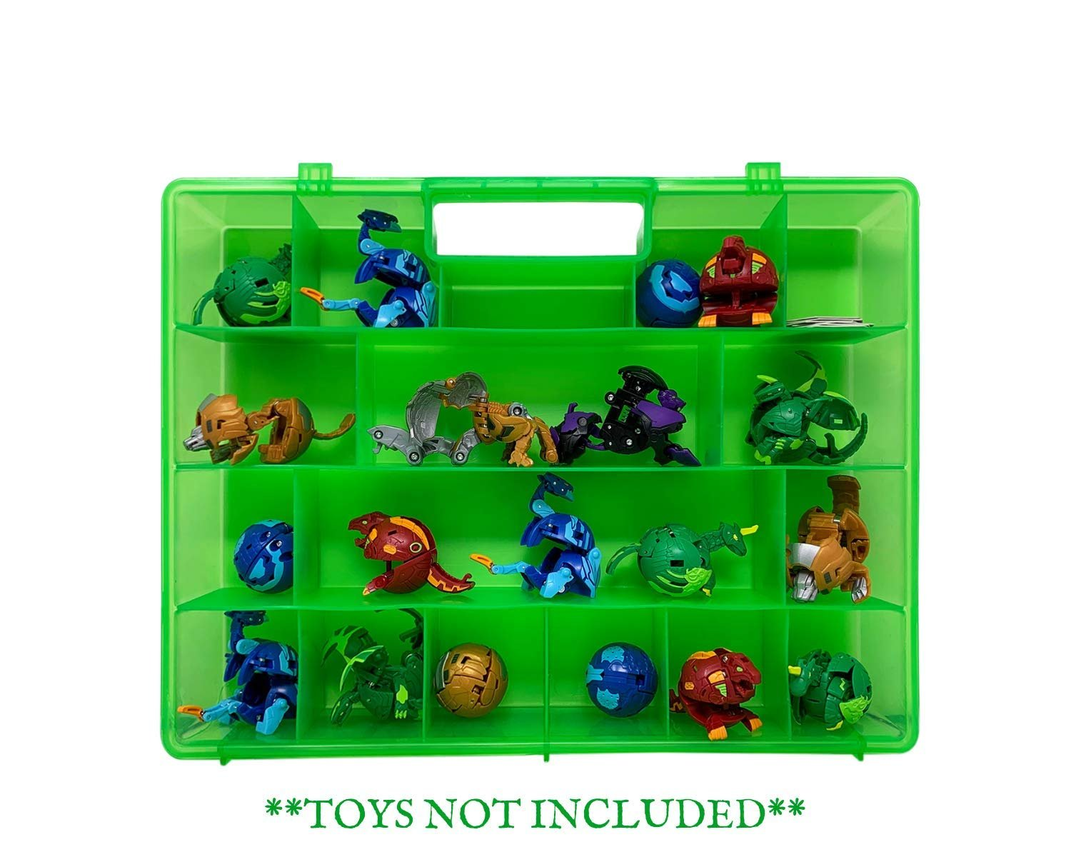 Life Made Better LMB's New & Improved Fun-Green Home Storage, Organization & Travel Case Compatible with Battle Bakugan Figures, Toy Accessories by LMB