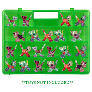 Life Made Better, Playset Figures Improved Durability, Stronger Hinges & Cover Clasps, Green Toy Organizer, Compatible with Twisty Petz, The Box is Not Created by Twisty Petz, Created by LMB