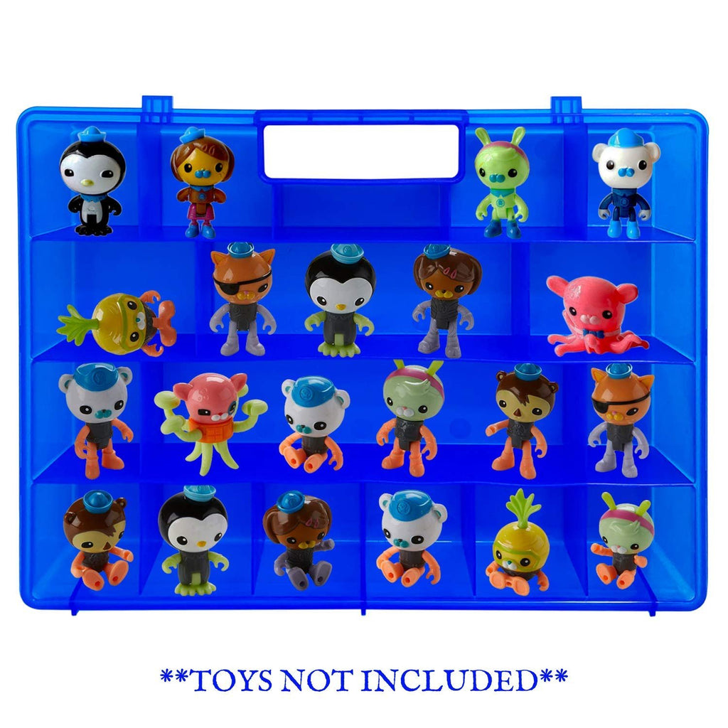 Life Made Better Enhanced Kid Proof Toy Carrying Organizer Case, Compatible with Octonauts, Blue Box to Store Figures and Play Sets & Accessories, Made by LMB