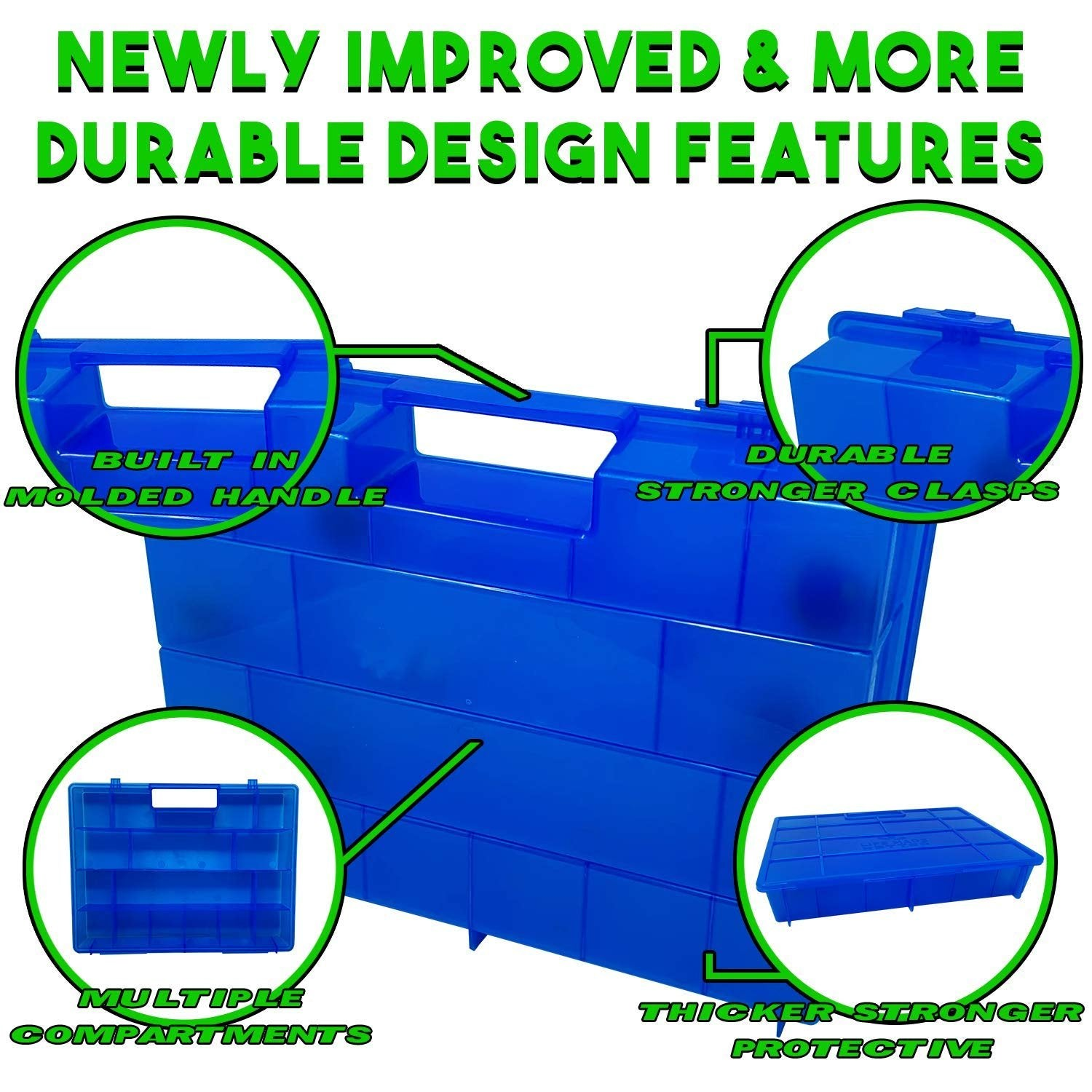 Life Made Better, Fun Favorite Blue Toy Carrying Box for Storage & Traveling, Compatible with Splashlings, Figures & Playset Organization Accessory Created by LMB
