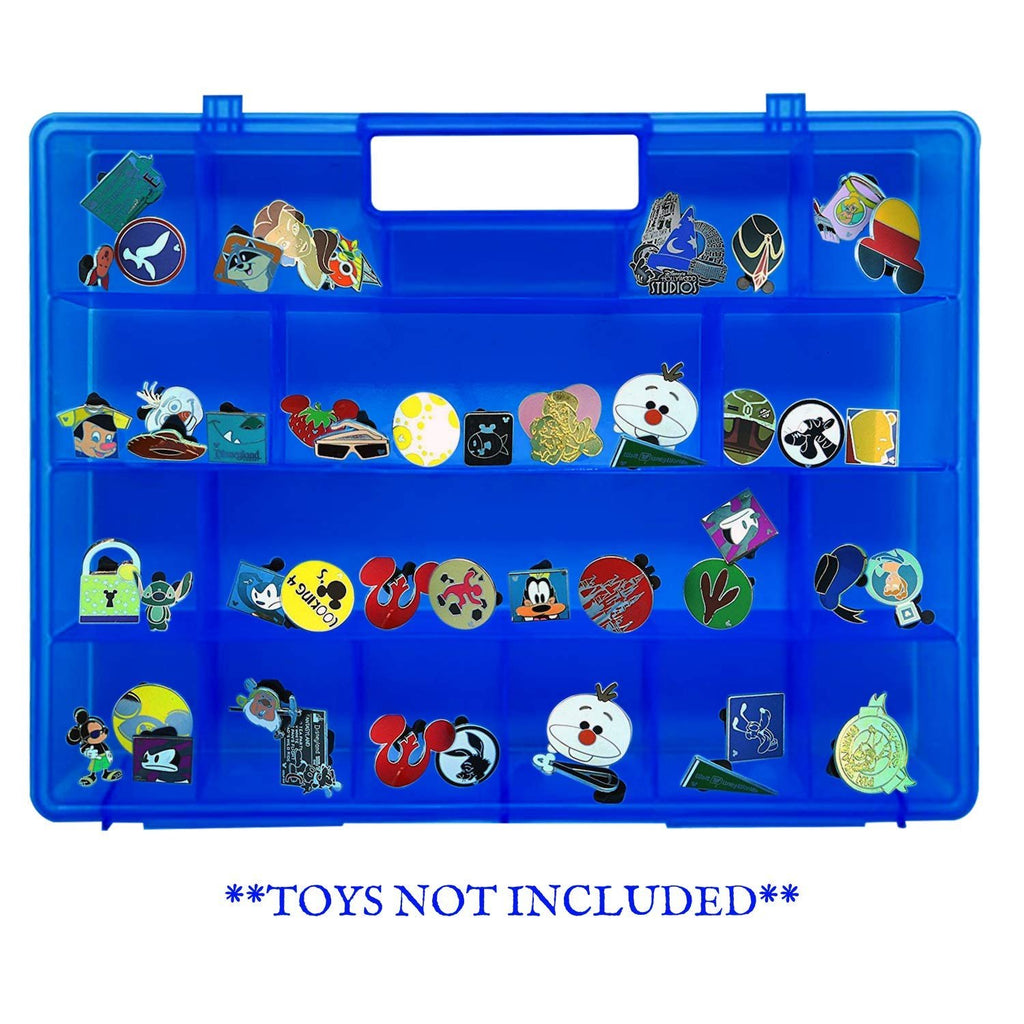 Life Made Better, Blue Collectible Toy Protector Storage Case. Carrying & Storage Solution Organizer, Compatible with Disney Pins, not Created by Disney, Accessories Made by LMB