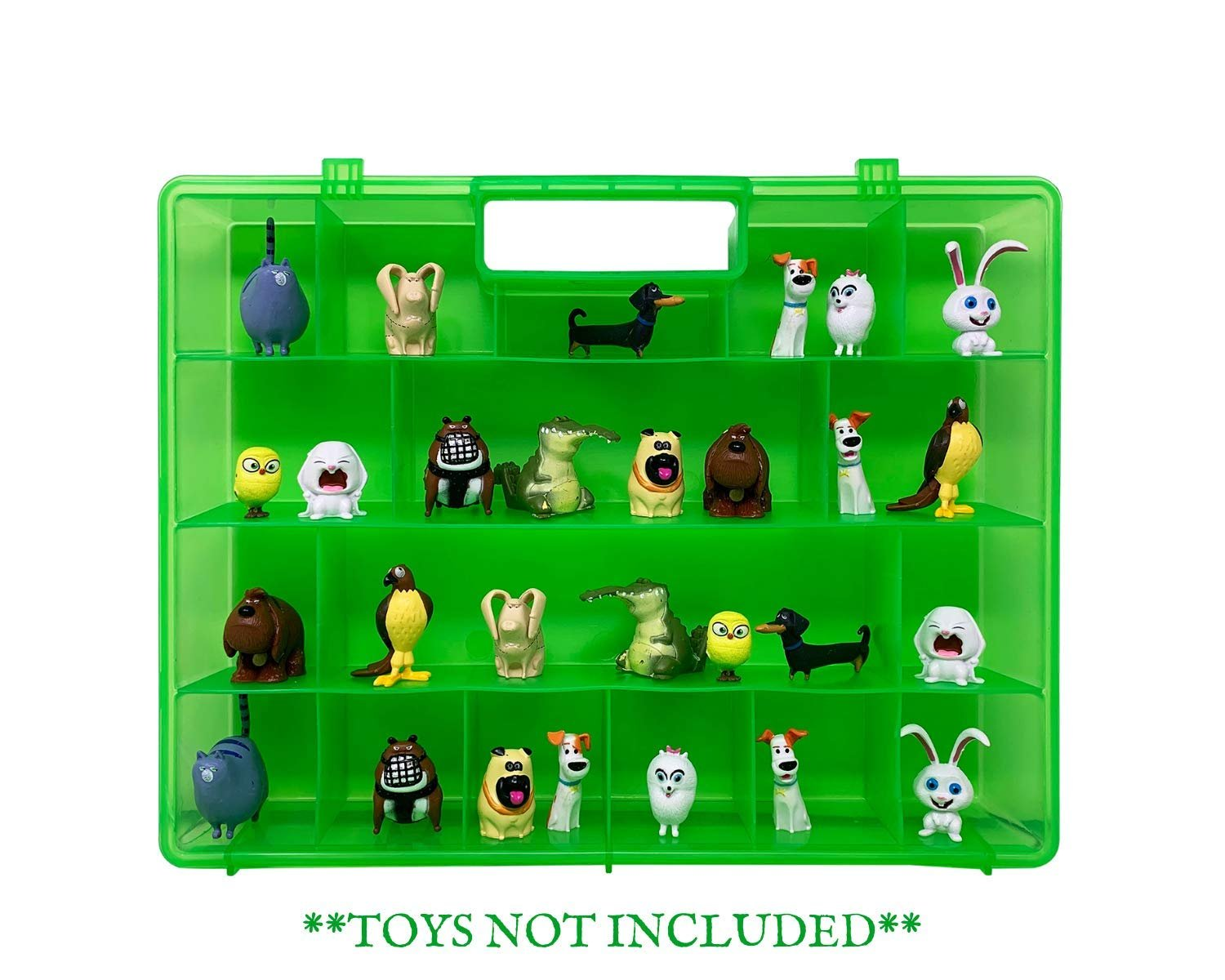 Life Made Better Slim & Light Green Display/Carry-Along Case for Kids Compatible with Secret Life of Pets Figures, Made by LMB