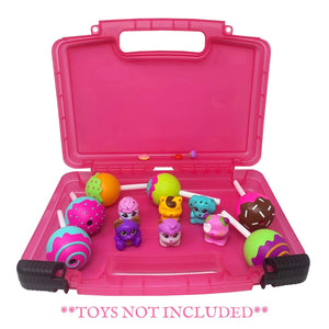 Life Made Better Toy Carrying Case, Compatible with CakePop Cuties Toys, Pink Toy Accessories Organizer for Girls, Made