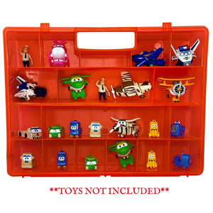 Life Made Better Well-Made Improved Red Toy Case, Portable Organizer Storage Carry-Along, Compatible with Transform-a-Bots, not Created by Transform-a-Bots
