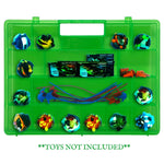 Life Made Better, Toy Storage Case, Fun Green Carrying Box with Separate, Sturdy Compartments Compatible with Power Rippers, Fits Multiple Figures & Accessories, Created