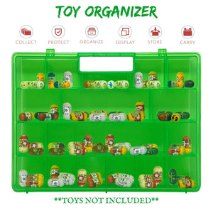 Life Made Better Improved Green Storage & Carrying Case Toy Mini Figure Organizer, Compatible with Mighty Beanz. This Box is Not Created by Mighty Beanz