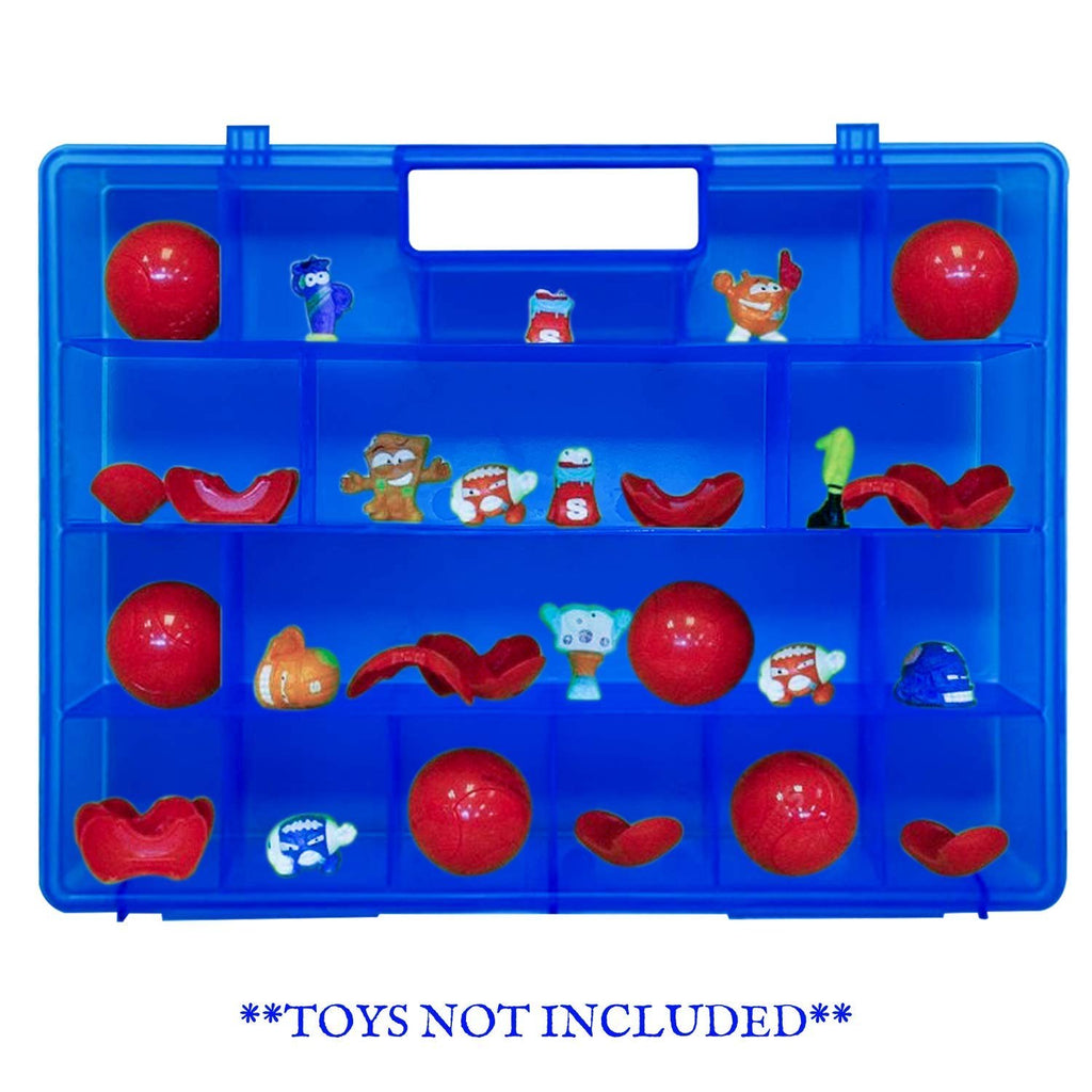 Life Made Better, Fun Blue Carrying Display & Protector Storage Case, Works with Zuru Smashers, Toy Accessory Made by LMB