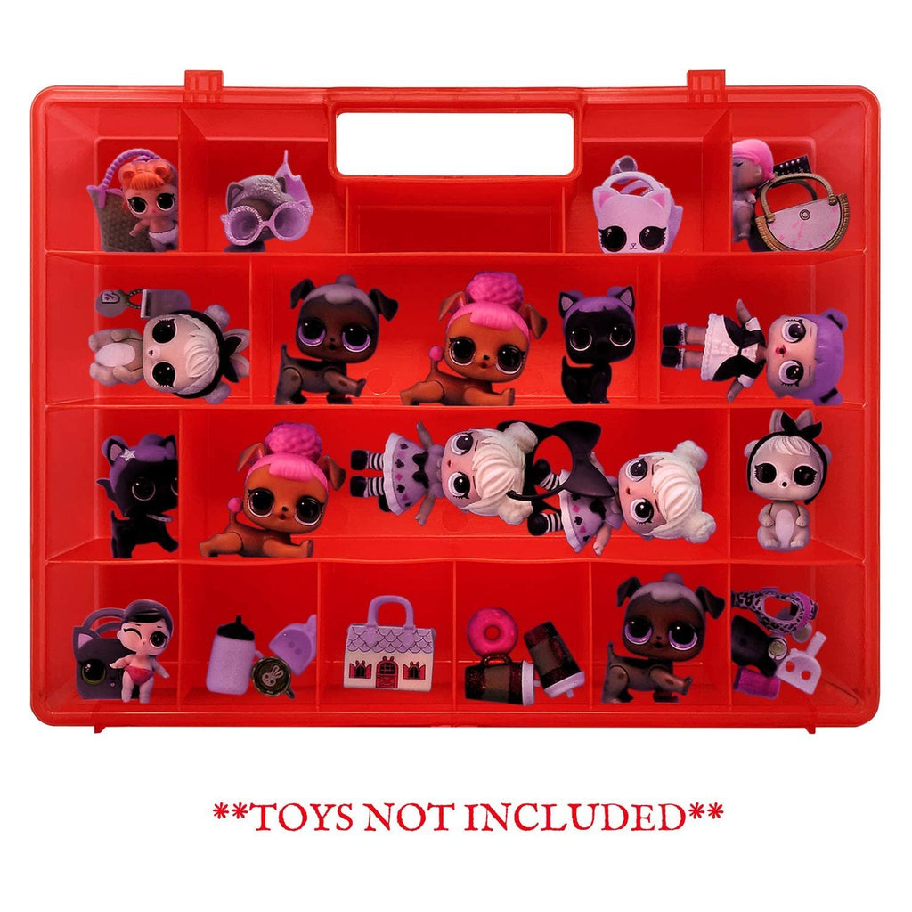 Life Made Better Dolls & Accessories Red Strengthened Organizer Toy Box, Wonderful Gift Idea for Big Sisters & Lil Sisters