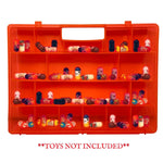 Life Made Better Improved Red Carrying Case Toy Figure Organizer, Compatible with Mighty Beanz. This Box is Not Created by Mighty Beanz