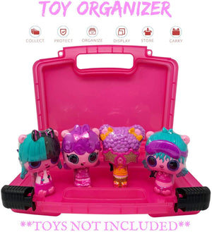 Life Made Better LMB's All-New Durable & Compact Pink Home Storage & Travel Case, Compatible to Comfortably Fit Pop Pop Hair Surprise Figurines - Toys Not Included