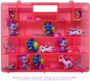Life Made Better Toy Storage & Organizer Case, Compatible with Hairdorables Pets Figures, Pink Figurine & Accessory Organizer, Made by LMB
