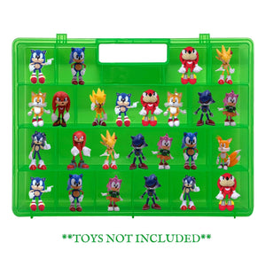 Life Made Better Toy Figures Sorting, Protecting, Storing Kid Home or On The Run Green Storage Box Case - Compatible with Sonic The Hedgehog, Organize, Protect Figurines & Accessories, Made by LMB