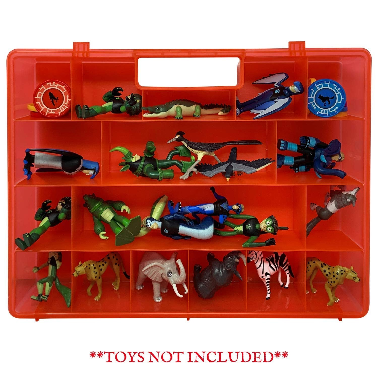 Life Made Better Newly Designed Toy Carrying and Storage Case Compatible with Wild Kratts Toys, not Made by Wild Kratts