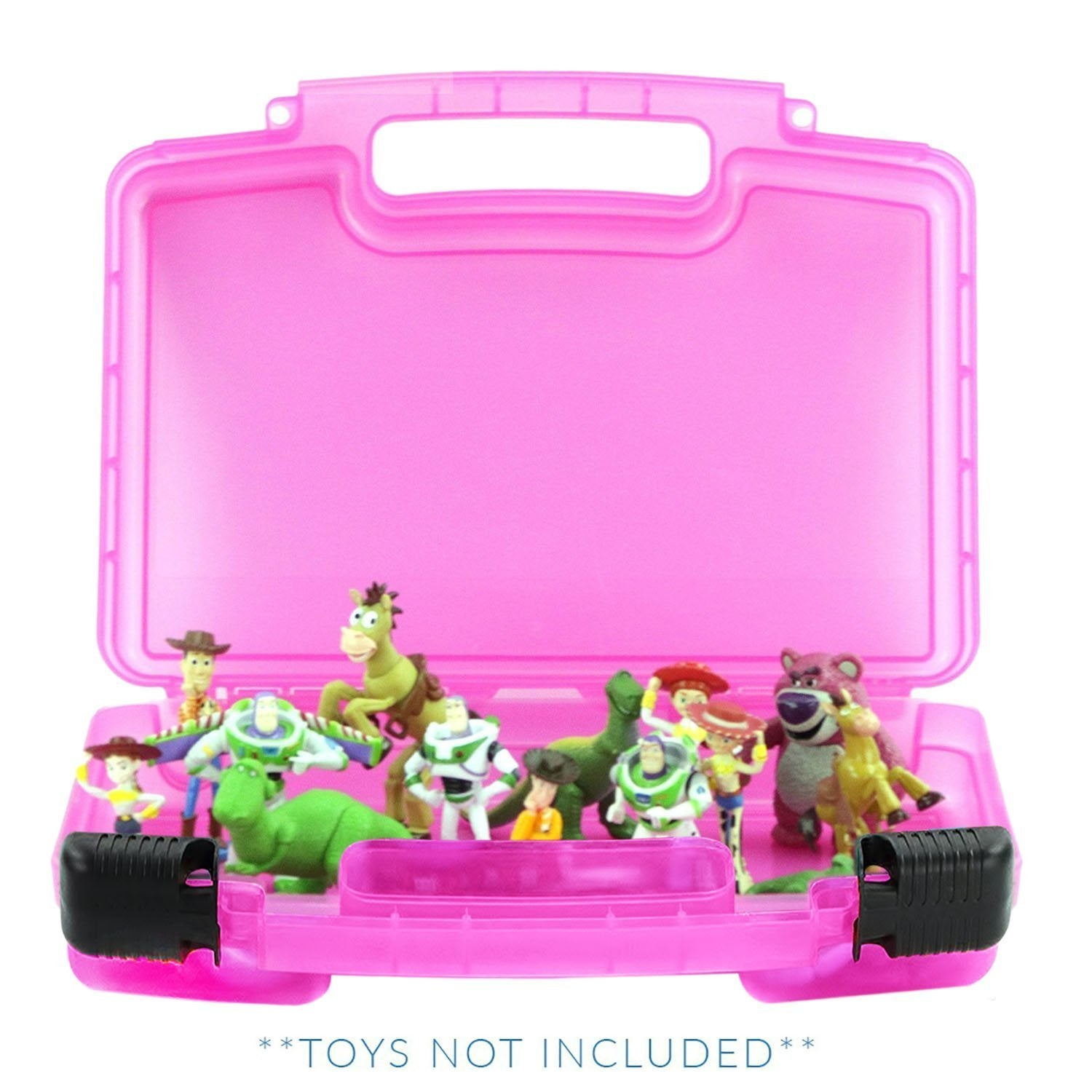Toy Story Case, Toy Storage Carrying Box. Figures Playset Organizer. Accessories for Kids by LMB