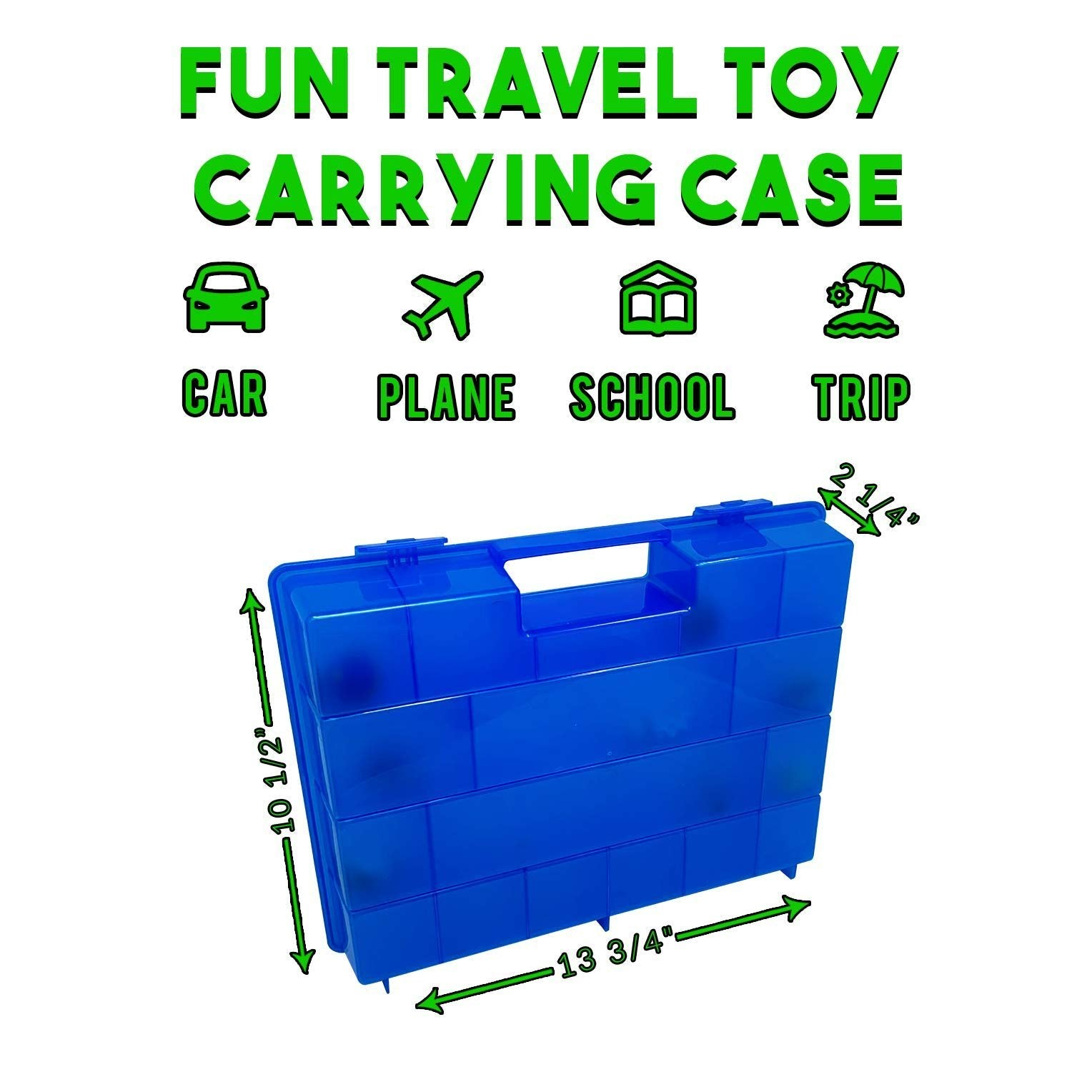 Life Made Better, Protective Toy Storage Box, Compatible Toys Accessory Blue Carrying Case for Lost Kitties. Not Created by Lost Kitties