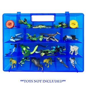 Life Made Better Durable, Sturdy Toy Organizer Case Compatible with Wild Kratts Figures - Blue Case, not Made by Wild Kratts