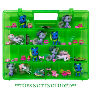 Life Made Better Toy Storage Case, Compatible with Hairdoorables Pets Figurines, Figure & Accessory Organizer, Made by LMB