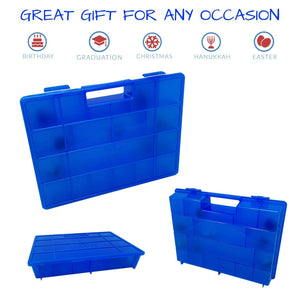 Life Made Better Toy Storage Organizer Newly Improved, Blue Toy Case Compatible with Fortnite Figures, Not Made by Fortnite