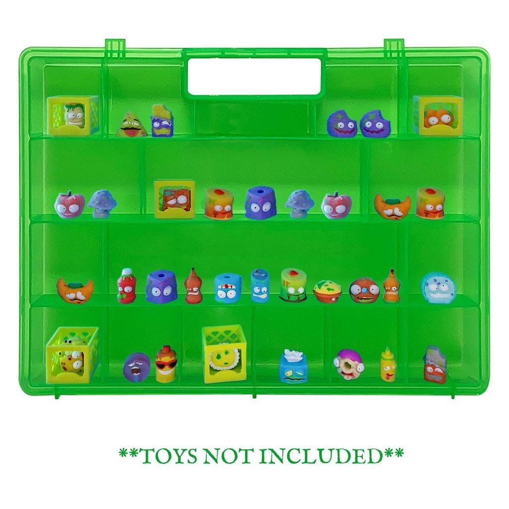 Life Made Better, Toy Organizer with New Strengthened Handle, Compatible with Grossery Gang Figures, Green Toy Figures Case