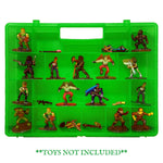 Life Made Better, Green Enhanced & Strengthened Toy Organizer, Toys Storage Case, Compatible with Fortnite Figures, Not Made by Fortnite
