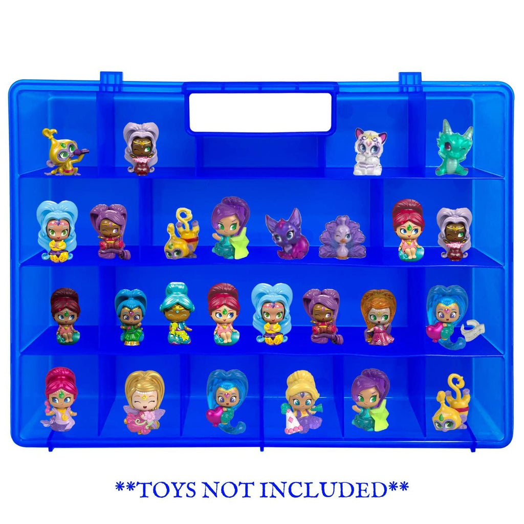 Life Made Better Kid Organizer Case, Protective, Durable Blue Toy Carrying Storage Box, Playset Organization, Compatible with Shimmer Shine Teenie Genies, Accessories for Kids, LMB