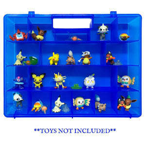 Life Made Better Improved Blue Storage & Carrying Case Toy Mini Figure Organizer, Compatible with Pokemon Figures. This Box is Not Created by Pokemon