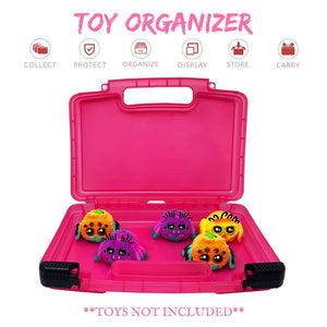 Life Made Better Toy Carrying Case, Compatible with Yellies Toy Spiders, Pink Toy Accessories Organizer, Made by LMB