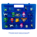 Life Made Better, Blue Toy Storage Case Reinforced All-in-One Handle, Strengthened Compartment Kid-Friendly Organizer Compatible with Transform-a-Bots, Not Made by Transform-a-Bots