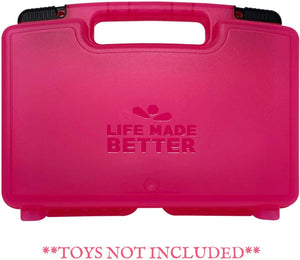 Life Made Better Pink Toy Carrying & Organizer Box, Compatible with Blume Dolls, Fits Multiple Dolls & Accessories, Created