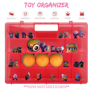 Life Made Better Well-Built Pink Easy to Carry Toy Figures Storage Box. Compatible with Despicable Me Toys, Toy Accessories Case for Kids