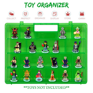 Life Made Better Model Toy Case, Green Sturdy, Protective Organization Storage Case, Compatible with Lego Dimensions Video Game Figures, not Made or Sold by Lego