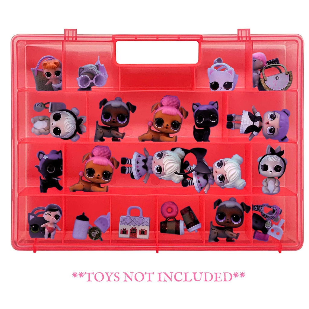 Life Made Better Enhanced & Newly Designed, Easy to Carry Pink Organizer Box for Dolls and Accessories, Great Gift Idea for Big Sister & Lil Sister