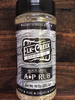 Elk Creek Bar-B-Q Black Label A-P Rub