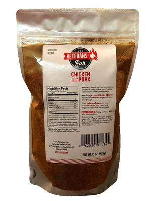 Veterans Q Chicken-Pork Rub