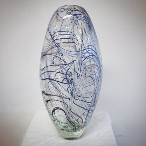 Art glass blowing vase
