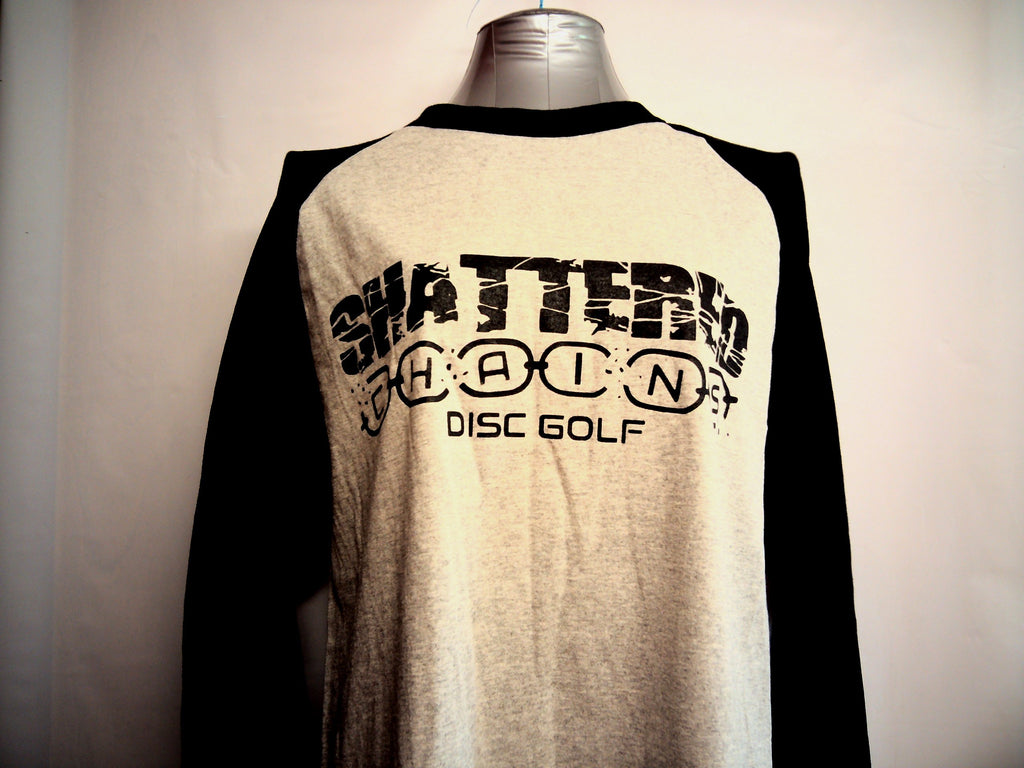 Shattered Chains Baseball 3/4 Length Sleeve Shirts - Shattered Chains - Disc 2 Basket Disc Golf Store